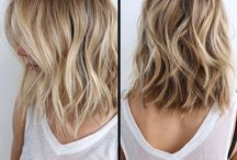 Style of blond hair