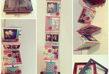 caja con fotos