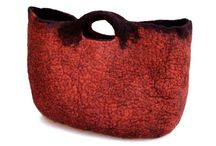 Red felted  bags