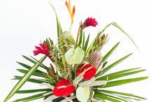 DIY Hawaiian Flower Arranging - Lanui (Holiday) / Step by step instructions for creating a perfect Hawaiian Flower Assortment
