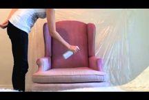 Paint fabric furniture