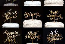 Adornos tarta boda