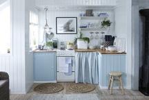 kjøkken på hytta / ideer, farger og interiør for kjøkkenet på hytta