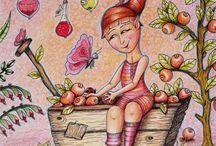 Omalovánky / Mé vybarvené obrázky z omalovánek pro dospělé