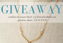 WEDDING GIVEAWAYS / Wedding giveaways via EmmalineBride.com, The Handmade Wedding Blog. / by Emmaline Bride | Handmade Wedding Blog