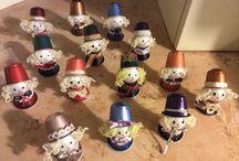 Natale Decorazioni / Segnaposti realizzate con capsule nespresso