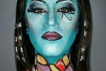 Mujeres de la historia de otros planetas / Maquillajes realizados en la academia Look Art Studio