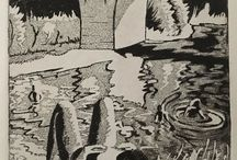 my work Would like some feedback on this small print. Bridge over the #dordogne  #france #aquatint #intaglio #print #etching #art #drawing #draw365 #