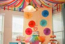 Toilet paper party decorations ceilings