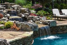 Water Features / Custom built water features for swimming pools designed and built by Georgia Classic Pool.