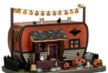 My Halloween Village Pieces