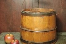 vintage milk bucket