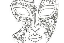 masque venitien coloriage