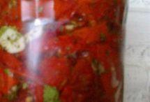Rajčata, papriky, lilek, cibule, česnek / vaření z rajčat,  paprik a lilku