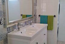 koupelna ,bathroom, Blue and White / bathroom
