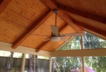 Screen porch  / This is a 12x16 screen porch with vaulted bead board ceiling