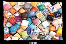 """""""Gemma"""" cm 2x2 small tile / """"GEMMA"""" PREZIOSA ARTIGIANALITA"""" La Gemma cm 2x2 è il formato più piccolo e prezioso di Senio. Ogni Gemma è un vero gioiello di ceramica artigianale, un pezzo unico e irripetibile per chi ama l'esclusività.  """"GEMMA"""" PRECIOUS CRAFTSMANSHIP"""" The 2x2 cm Gemma is the smallest and most precious Senio size. Each Gemma is a real jewel of handicraft ceramic, a unique and original piece for who loves exclusivity."""