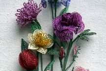 Wire Beaded Flowers