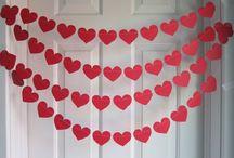 Corações para decorar