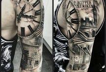 Halve sleeve tatoeages