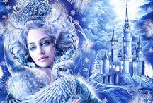 Снежная королева. Иллюстрации к сказке.