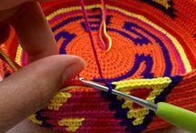 Tapestry haken / Mochila ea tassen inspiratie
