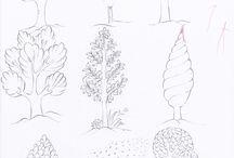Minyatür de ağaçlar