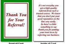 Thanking card