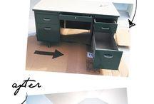 metal office desk makeover