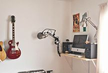 Play / Band room, music room or home studio styling inspiration.