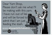 I'm addicted to yarn.