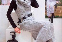 Вязанье Платья Сарафаны спицами