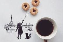 Art of breakfast and coffee