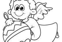 Anioły i Aniołki :D / szablony , malowanki itd.