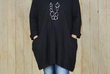 Black Boho Style / Boho tunics, dress, trousers and skirts. Beautiful fabrics in Lagenlook style! #lagenlook #boho #black