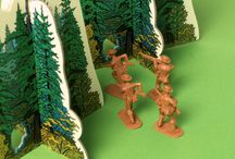 Unplugged Toys for Kids / Hey, Kids!  Get your imaginations working with Bold Frontiers forest tree sets (cardboard, flatpack - sturdy, colourful, realistic looking) and toy soldiers (54mm) from Armies in Plastic.  Our trees will add more fun and challenges to your games.  Great value!  New lines of scenery on the way shortly.  Keep your eyes pinned to www.boldfrontiers.com.au.