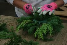 LCF in Action / Creating our elegant wreaths and centerpieces
