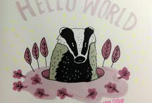Sophy's 30 Badgers / Sophy's 30 Badgers in 30 Days Drawing Challenge.