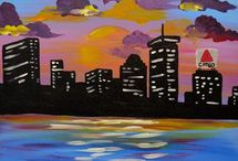 Paint Nite Paintings - Cityscapes / Check out our city and skyline inspired paintings that you can paint in an area near you.