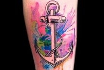 Watercolor Tattoos / Watercolor tattoos are based on the technique of blending traditional tattooing with watercolor paintings, which gives it an absolutely different look as compared to the traditional tattoo.