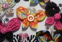 mariposas en tela y fieltro