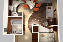 Квартира-Студия. Дизайн.