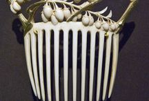 Combs so beautiful / Such a romantic time when women held back a curl or wisp of hair with one of these beautiful combs or to place in ones hair to look lovely / by Linda Jenkins