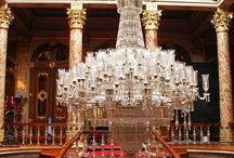 THE CHANDELIERS OF THE DOLMABAHCE PALACE / The colorfull chandeliers of the Dolmabahce Imperial Palace