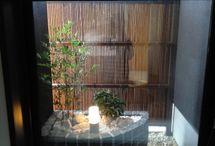 風呂、坪庭