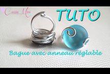 Bague alu / Bagues ,boucles d'oreilles, pendentifs et bracelets