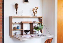 Folded desk