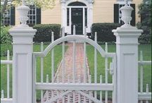 Walpole Outdoors Gates / Inviting, stylish, and practical, Walpole offers a wide selection of walk gates, farm gates, and steel framed entrance gates. There's a standard Walpole gate design that perfectly complements our many fence styles, including picket, board, and historical replication. Additionally, we will work with your ideas or drawings to create a unique gate that meets your purpose and exceeds your expectations. Take a look at all of our gates on this board. / by Walpole Outdoors