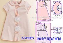 roupa de bebe molde