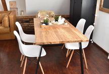 Industrial loft tables